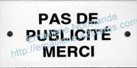 11-1. Plaque 6x12cm pas de publicité merci