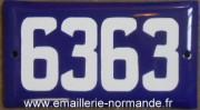 Plaque d'adresse de Montréal à bords tombés (Montréal) 2 trous de fixation