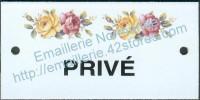 Plaque émaillée (6x12cm) LD25 privé