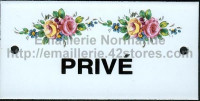 Plaque émaillée (6x12cm) LD75 privé