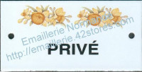 Plaque émaillée (6x12cm) LD55 privé