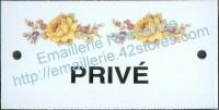 Plaque émaillée (6x12cm) LD65 privé