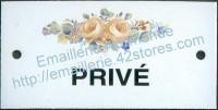 Plaque émaillée (6x12cm) LD45 privé