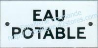 Plaque émaillée (6x12cm) Eau potable