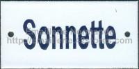 Plaque émaillée (6x12cm) Sonnette