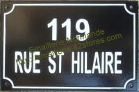 Plaque de rue émaillée personnalisable (20x30cm)