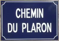 plaque de rue (25x40cm)