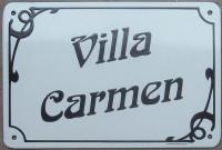 2.1- Plaque de villa émaillée (20x30cm) alphabet AR, en biais.