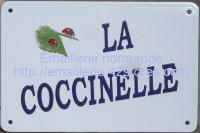 Plaque de villa émaillée (20x30cm) alphabet BOS, en biais.