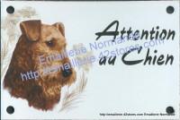 Plaque émaillée (10x15cm) Airedale