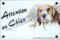 Plaque émaillée (10x15cm) Beagle