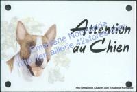 Plaque émaillée (10x15cm) Bull terrier
