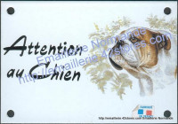 Plaque émaillée (10x15cm) Bouledogue anglais