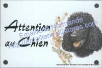 Plaque émaillée (10x15cm) Caniche noir