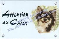 Plaque émaillée (10x15cm) Chihuahua