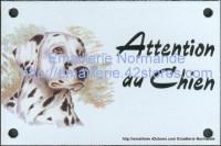 Plaque émaillée (10x15cm) Dalmatien