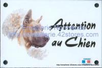 Plaque émaillée (10x15cm) Dogue allemand