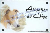 Plaque émaillée (10x15cm) Greyhound (whippet)