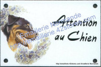 Plaque émaillée (10x15cm) Rottweiler