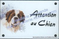 Plaque émaillée (10x15cm) St Bernard