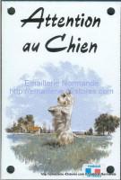 Plaque émaillée (10x15cm) Scottich terrier blanc