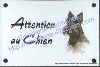 Plaque émaillée (10x15cm) Scottich terrier noir
