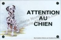 Plaque émaillée (10x15cm) Dalmatien assis