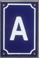 Plaque émaillée, numéro de maison émaillé 15x10cm vertical (entre A et Z)  (les photos présentées ne changent pas avec votre commande)