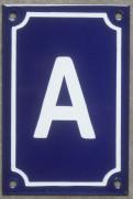 Plaque émaillée, numéro de maison émaillé 15x10cm vertical (entre A et Z)