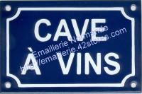 Plaque émaillée (10x15cm) Cave à vins
