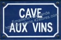 Plaque émaillée (10x15cm) Cave aux vins