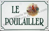 Plaque de villa décorée  (20x30cm) alphabet HB, horizontal.