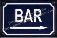 plaque émaillée (10x15cm) Bar ->