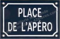Plaque émaillée (10x15cm) Place de l'apéro