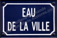 Plaque émaillée (10x15cm) Eau de la ville