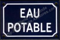 Plaque émaillée (10x15cm) Eau potable