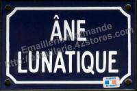 Plaque émaillée (10x15cm) âne lunatique