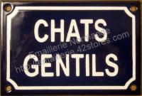 Plaque émaillée (10x15cm) chats gentils