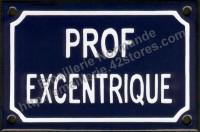 Plaque émaillée humoristique (10x15cm) Prof excentrique