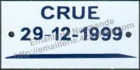 Plaque indicatrice de crue (6x12cm)
