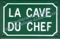 Plaque émaillée (10x15cm) La cave du chef
