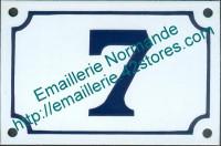 5-1 Plaque émaillée, numéro de rue fond blanc avec liseré (10x15cm ou 10x18cm)