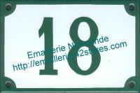 5-1 Plaque émaillée, numéro de rue fond blanc avec bordure (10x15cm ou 10x18cm)