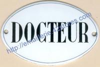Plaque émaillée ovale (8x12cm) Docteur