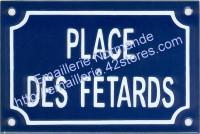 Plaque émaillee (10x15cm) Place des fêtards
