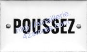 Plaque émaillée (6x10cm) Poussez