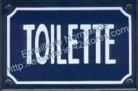Plaque émaillée (10x15cm) Toilette