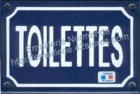 Plaque émaillée (10x15cm) Toilettes