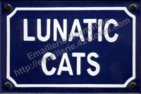 Plaque émaillée (10x15cm) Lunatic cats