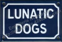 Plaque émaillée (10x15cm) Lunatic dogs